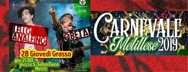 Melilli| Carnevale 2019, domani l'apertura con Lello Analfino e i Qbeta