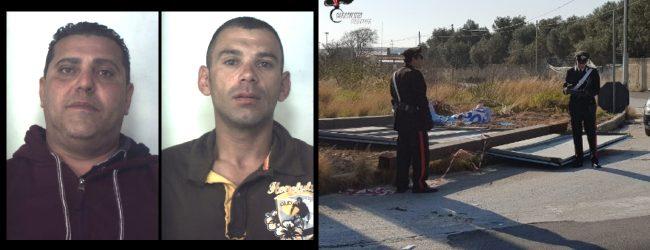 Priolo Gargallo| Tentano di rubare tabelloni pubblicitari abbattuti dal maltempo. Arrestati