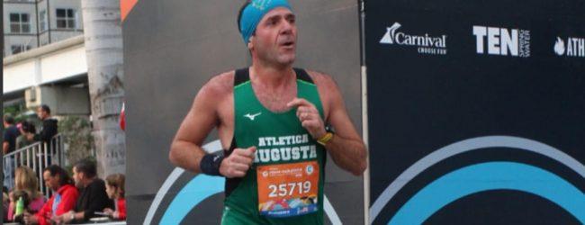 Augusta  Asd Atletica presente a Miami nella mezza maratona.