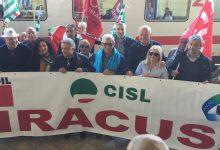 Siracusa  Treni e infrastrutture a rilento, manifestazione di Cgil, Cisl e Uil alla stazione