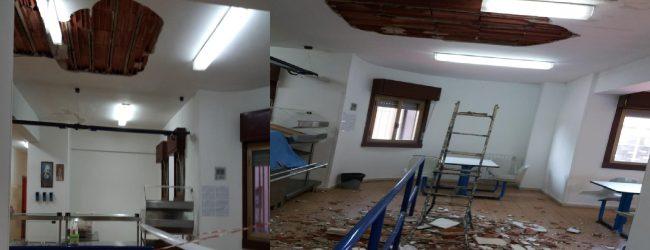 Augusta| Crolla parte del soffitto della mensa carcere: chiesta l'immediata chiusura.