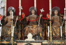 Lentini | Quasi al termine il restauro delle statue dei tre santi martiri della chiesa della Fontana