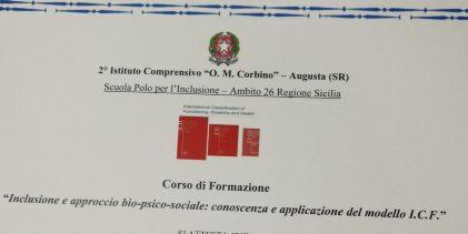 Augusta  Al Corbino: inclusione e approccio bio-psico-sociale.