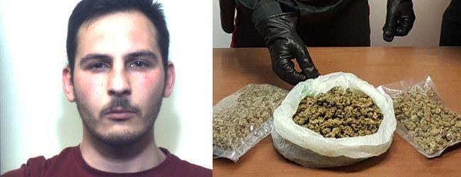Augusta  Arrestato un giovane che nello zainetto custodiva 460 grammi di droga.