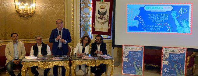 Noto  A Palazzo Ducezio presentazione 40esima edizione dell'Infiorata