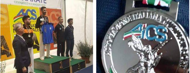 Melilli| Federico Pizzo vice campione italiano assoluto Aics Kumite- Aics 75 kg