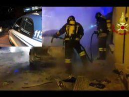 Priolo Gargallo| La polizia di stato interviene per l'incendio di un'autovettura