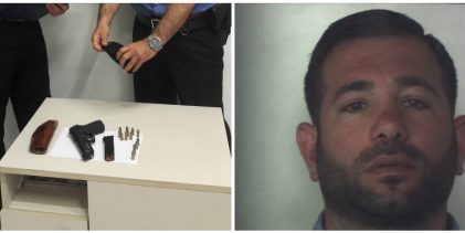 Siracusa  Sequestrata pistola con matricola abrasa a casa di un commerciante siracusano