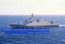 Lampedusa| Pattugliatore Cigala Fulgosi soccorre 100 migranti a bordo di gommone in difficoltà
