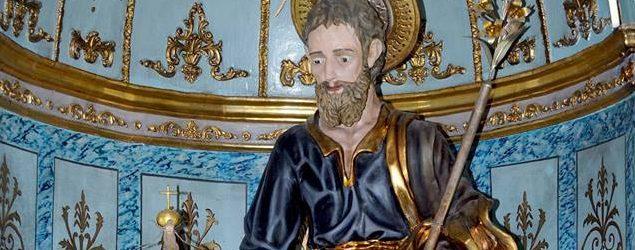 Augusta| Il pastorale di mons. Garsia donato al simulacro di San Giuseppe.