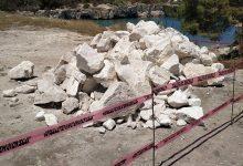 Augusta| Bloccati i lavori nell'area sovrastante la spiaggetta del canale di Brucoli.