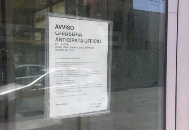 Augusta | Rapina all'ufficio postale: arrestato dalla Polizia di Stato l'autore.