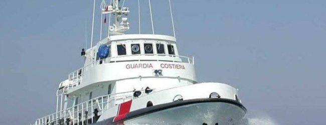 Augusta  Nave Gregoretti al pontile Nato con a bordo 131 migranti