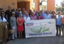 Siracusa| Sit in sotto la sede del Giornale di Sicilia: Appello agli editori