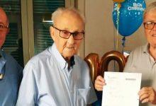 Lentini | Salvatore Vinci, 101 anni e ancora iscritto allo Spi Cgil