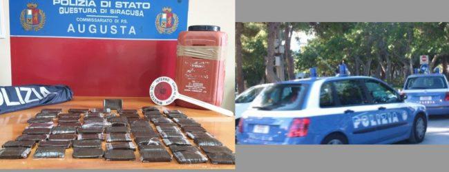 Augusta| Operazione antidroga: la Polizia sequestra 12 chili di hashish