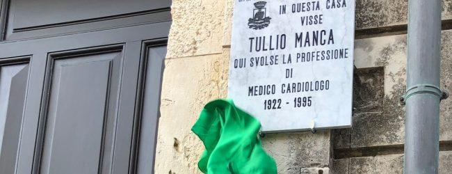 Siracusa| Viale Montedoro, scoperta lapide commemorativa al cardiologo Tullio Manca