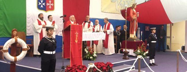 Augusta| Santa Barbara celebrata solennemente con una messa officiata dal vescovo