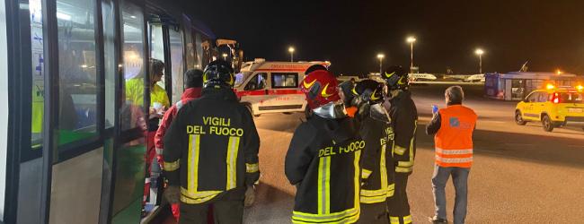 Palermo  Aereo fuori pista all'aeroporto Falcone Borsellino. Scatta piano di emergenza