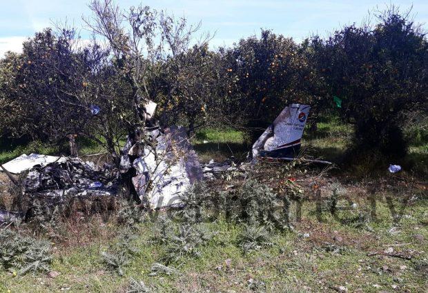 Lentini  Ultralleggero precipita nelle campagne tra Francofonte e Lentini. Due morti