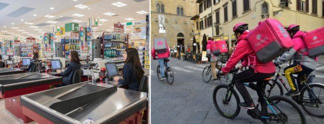 Catania| Coronavirus: Rider, addetti alla consegna e alle casse a rischio