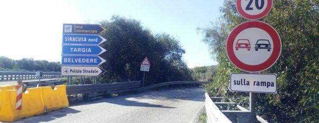 Siracusa| Aperto svincolo nord, obbligo di viaggiare a venti chilometri orari