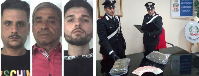 Siracusa| Arrestati dai carabinieri 4 catanesi in possesso di oltre 1 kg. di mariujana