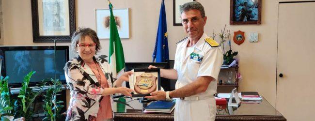 Siracusa| Giancarlo Russo della Guardia costiera di Catania, incontra il Prefetto Scaduto