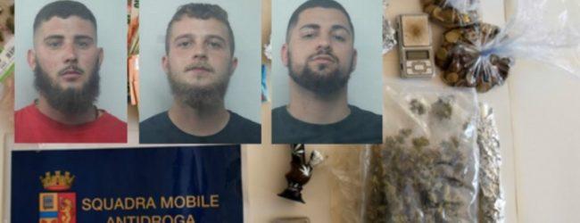 Siracusa| Spaccio di droga all'interno di un complesso immobiliare di via Algeri: arrestati tre giovani
