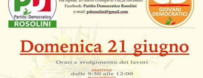 Rosolini| Fase congressuale, avviata l'azione politica del Pd