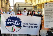 Siracusa| Tour di Fratelli d'Italia in via Crispi
