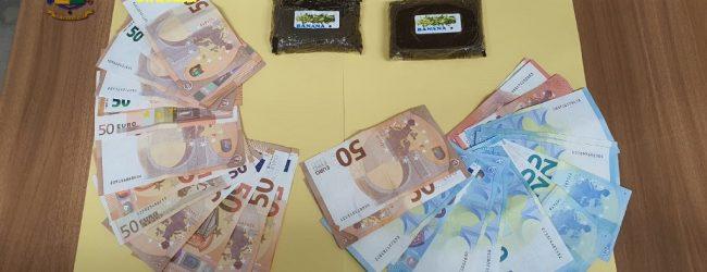 Rosolini  Sequestrati 2 panetti di hashish e piu' di 1000 euro in contanti a un marocchino