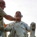 Lentini | Una nuova testa per la statua del senatore Giuseppe Luigi Beneventano