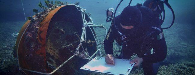 Augusta  Pericoloso ordigno bellico rimosso dai palombari nelle acque del golfo Xphonio