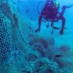 Augusta| Rete da pesca rimossa dai palombari dalle acque del golfo Xphonio
