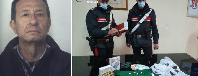 Siracusa  Blitz in casa di un 61enne: deteneva illegalmente armi, munizioni e droga