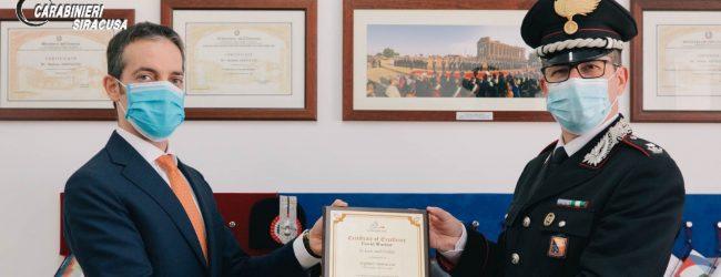Augusta  Il premio Covid Warrior Awards al maggiore Stefano Santuccio