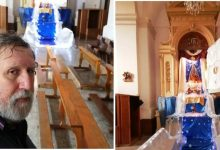 Canicattini Bagni| Sergio Carpinteri espone due Presepi in Chiesa Madre e in via Regina Elena 67