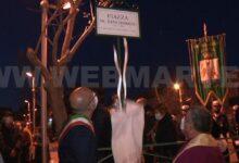 Augusta | Piazza dedicata a don Caramagno, primo parroco della borgata
