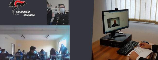 """Melilli   Bullismo e Cyberbullismo. I Carabinieri incontrano, in modalità web, gli studenti del """"G. E. Rizzo"""" di Villasmundo"""