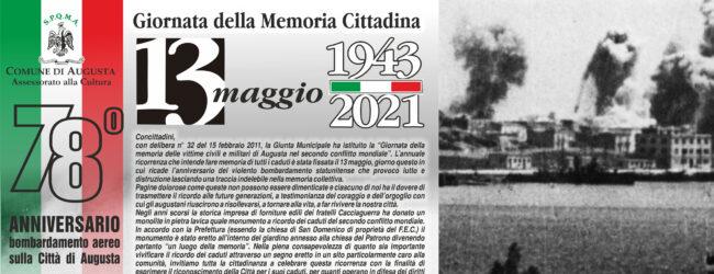 Augusta   13 Maggio 1943. Un manifesto all'insegna della memoria cittadina