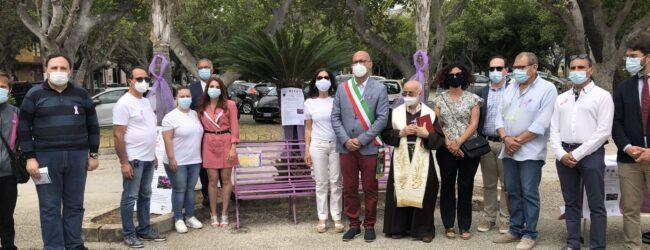 Augusta   Panchina lilla per manifestare vicinanza a chi è affetto da disturbi alimentari