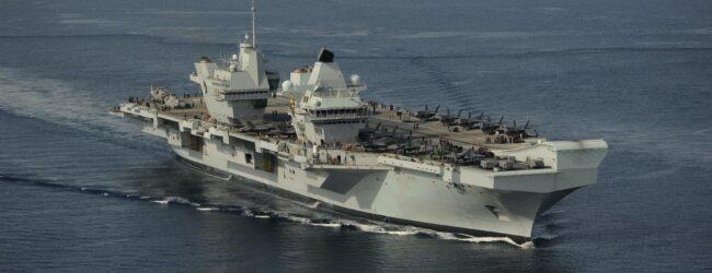 Augusta   La portaerei Queen Elizabeth guidata dall'Andrea Doria della Marina italiana