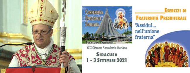 Siracusa   Incontro di fraternità sacerdotale per tutti i sacerdoti delle Chiese di Sicilia