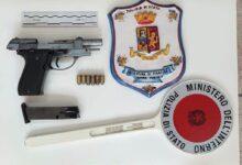 Siracusa | Arrestato 28enne in possesso di una pistola calibro 9 e 6 cartucce