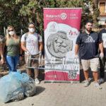 Lentini | A servizio della città, i giovani del Rotaract ripuliscono Piazza della Resistenza