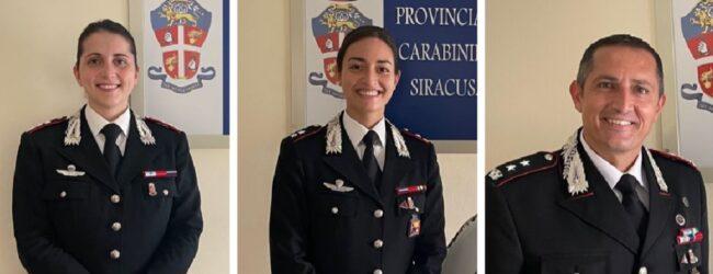 Siracusa   Giunti tre ufficiali dei carabinieri al Comando provinciale