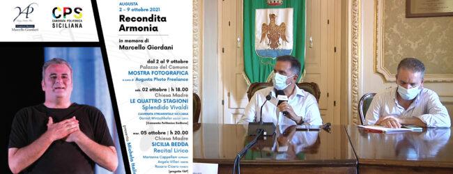 Augusta / Recondita armonia, una settimana di eventi per ricordare Marcello Giordani